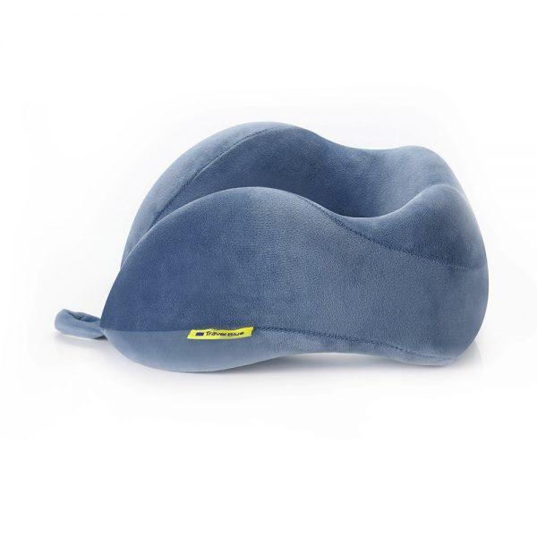 poduszka turystyczna niebieska